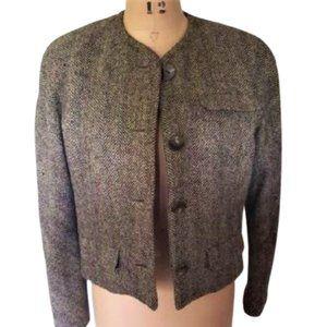 Ralph Lauren Purple Label  crop wool blazer jacket